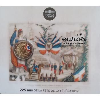 2 EUROS BU FRANCE 2015 colorisée - Liberté - 225 ans de la fête de la fédération