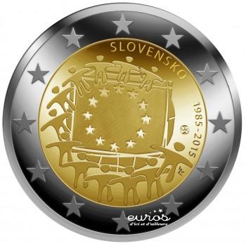 2 euros Slovaquie 2015 - 30ième anniversaire du drapeau européen
