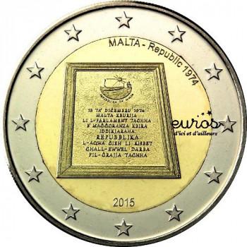 2 euros commémorative MALTE 2015 - République 1974