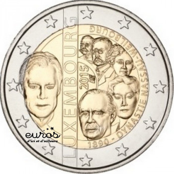 2 euros commémorative LUXEMBOURG 2015 - 125 ans de la Dynastie de Nassau-Weilbourg