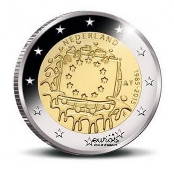 2 euros Pays-Bas 2015 - 30ième anniversaire du drapeau européen