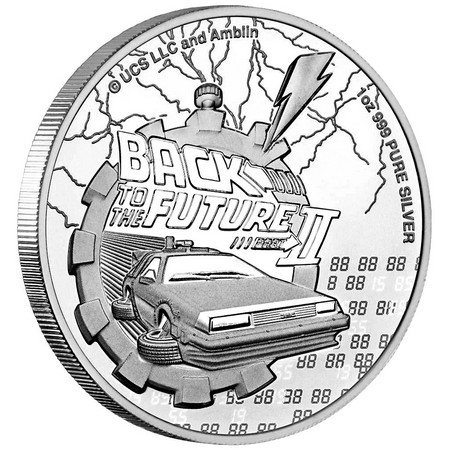 Pièce Retour Vers Le Futur - Part 1 en argent pur